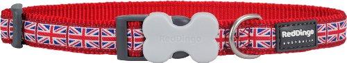 Red Dingo Designer Dog Collar, Union Jack (20 mm x 31-47 cm) M