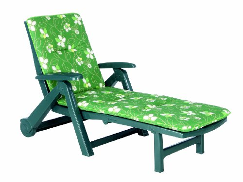 Best Charleston 96406232 Lounger with Cushion Pattern No. 1262 Green