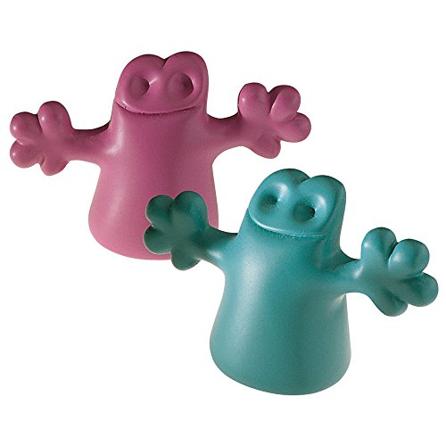 Thermoplastic Resin Ghost Bottle Caps in Blue and Pink (Set of 2)