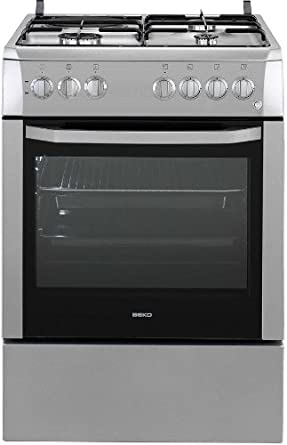 Beko CSS63110DS cuisinière - fours et cuisinières (Autonome, Argent, Electrique, Combiné, 220 - 240 V, Convection, Grill, Microwave)