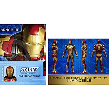 Iron Man Party Supplies - Iron Man Invitations & Thank You Notes - 16 Count (Iron Man Invitations compare prices)
