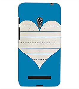 PrintDhaba Heart D-1453 Back Case Cover for ASUS ZENFONE 5 A501CG (Multi-Coloured)
