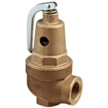 "Apollo Valve 10-600 Series Bronze Safety Relief Valve, ASME Hot Water, 50 psi Set Pressure, 1"" NPT Female"