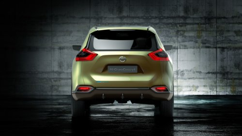 "Nissan Hi-Cross Concept (2012) Car Art Poster Print On 10 Mil Archival Satin Paper Green Rear Static View 20""X15"""