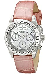 Invicta Women's 18387 Speedway Stainless Steel Watch with Pink Leather Band