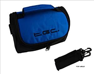Dreamy Blue & Black Carry Case Bag for Panasonic HX-WA20 Active HD Camcorder
