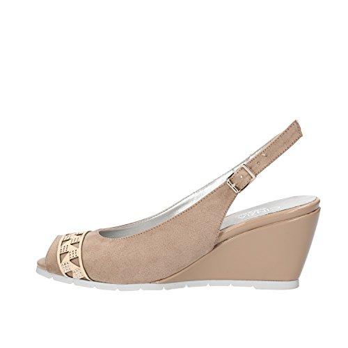 CINZIA SOFT sandali donna beige camoscio AG814 (36 EU)