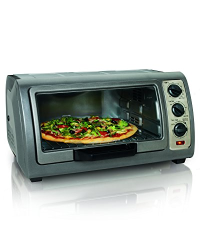 Hamilton Beach Easy Reach Oven with Convection, Silver (31126) (Convection Toaster Oven Small compare prices)