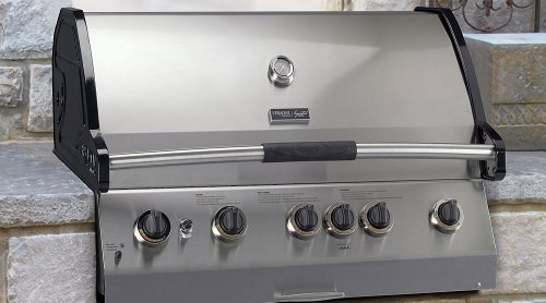 Vermont Castings Signature Series 5Burner Natural Gas Grill, Side And Back Burners. Rotisserie Vcs523ssbin