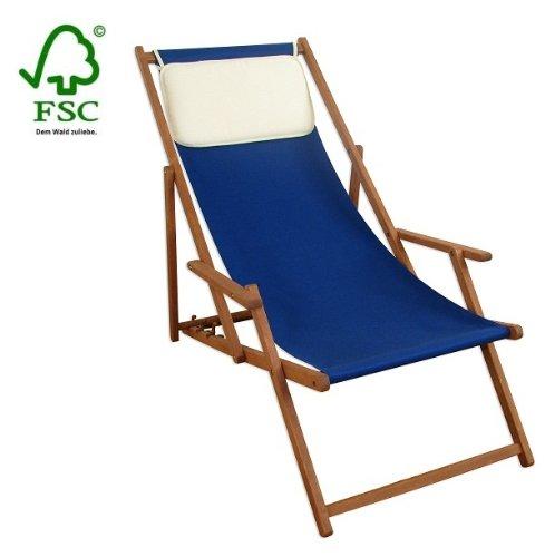 Sonnenliege Gartenliege Deckchair Saunaliege inkl. Kopfstütze günstig online kaufen