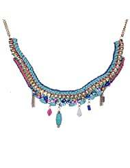 Chokers And Charms Beautiful Blue Coloured Quilled Necklace For Women
