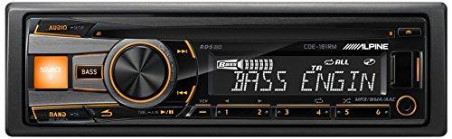 Alpine-CDE-181RM-Autoradio-Auto-CDDVD-Tuner-AAC-MP3-WMA-FM-LW-MW-875-108-MHz-153-281-kHz-LCD-Schwarz-Gelb