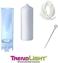 TrendLight 860497 - Molde de fundición para vela (60 x 155 mm, con mecha de 1 m, soporte para mecha e instrucciones)