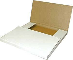 "(25) White 1-3 Vinyl 12"" Record Cardboard Multi-Depth Mailers"
