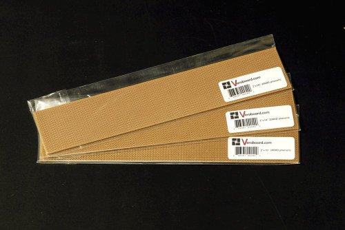 "Pack Of 3 Prototype Universal Perfboard 2""X10"" (50X256Mm) 2000Hole Phenolic"