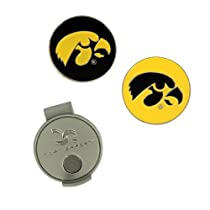 NCAA Iowa Hat Clip and 2 Golf Ball Markers