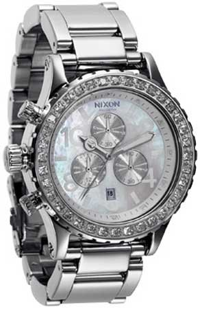 7f24af10e42ff7 NIXON Women s NXA037710 Chronograph Dial with Swarovski Crystal Watch