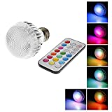 E27 8W 280LM RGB Light LED Ball Bulb with IR Remote Control (AC100-240V)