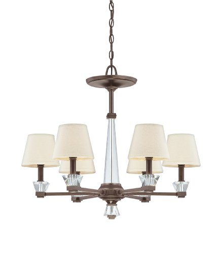 B004K6XD1S Quoizel DX5006PN Deluxe 6-Light Chain Hung Chandelier, Palladian Bronze