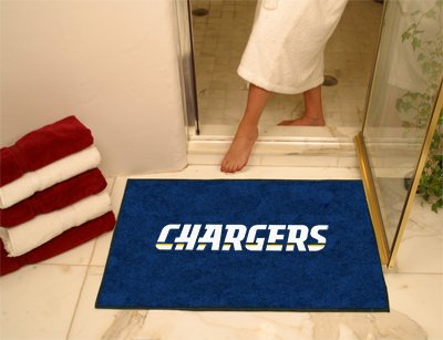 NFL San Diego Chargers Chromo Jet Printed Rectangular Area Rug Floor Mat 45