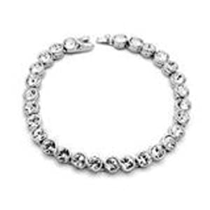 White Gold Plated (Silver colour) Swarovski Cubic Zirconia Tennis Bracelet 18.5cm supplied in Gift Box