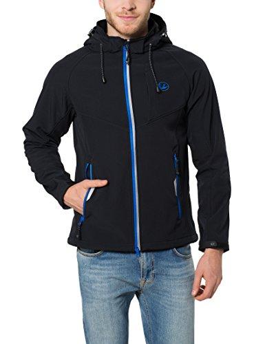 Ultrasport Miro - Chaqueta deportiva Softshell de 3 capas para hombre, con capucha extraíble