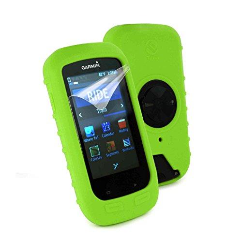 tuff-luv-silikon-schutzhulle-tasche-fur-garmin-edge-1000-displayschutz-farbe-grun