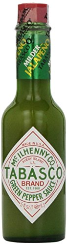 Tabasco Brand Green Pepper Sauce Milder Jalapeno 5oz (Pack of 6) (Tabasco Jalapeno Sauce compare prices)