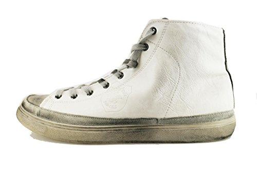 BEVERLY HILLS POLO CLUB sneakers uomo 45 EU bianco pelle camoscio AH995