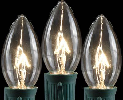 Novelty Lights, Inc. C9 Outdoor Patio Party Christmas Replacement Bulbs, 25 Pack