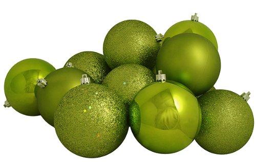 Vickerman 4-Finish Ball Ornament, 100mm, Lime