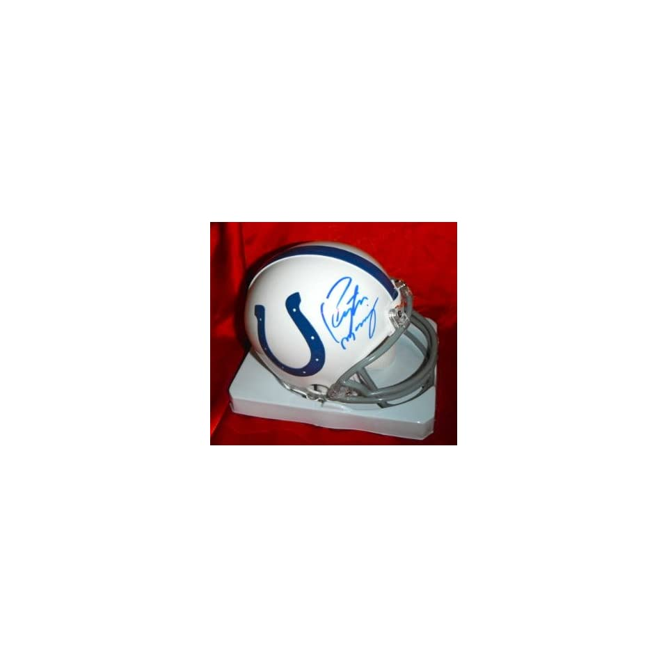 Peyton Manning Autographed Hand Signed Indianapolis Colts Mini Helmet