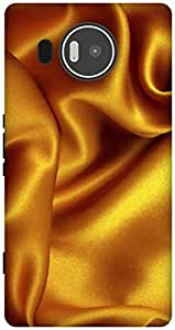 The Racoon Lean Gold Silk texture hard plastic printed back case / cover for Microsoft Lumia 950 XL