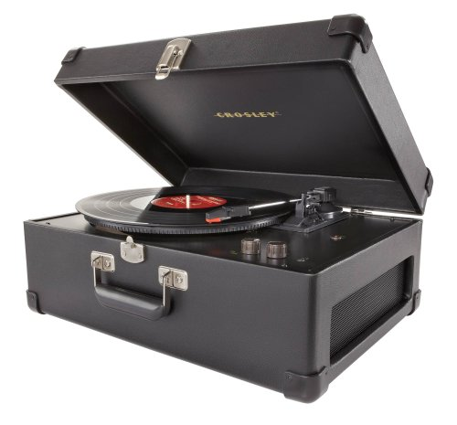 Crosley Cr6249A-Bk Keepsake Usb Portable 3-Speed Turntable With Software Suite For Ripping And Editing Audio (Black)
