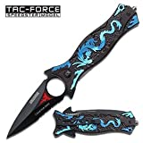 Tac Force TF-707BL Assisted Opening Folding Knife (4.5-Inch Closed)