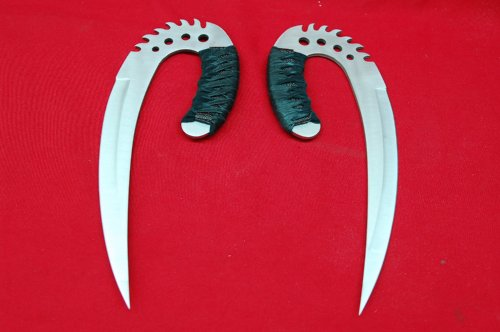 Chronicles of Riddick Steel Saber Claws Silver Martial Arts Daggers