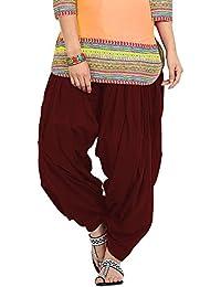 X Trendz Women's Cotton Salwar(X Trendz Maroon_Salwar_Maroon_Free Size)