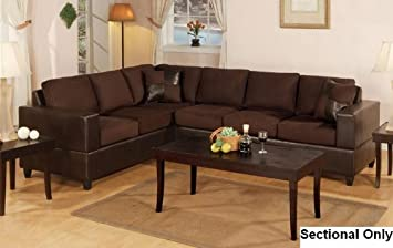 Chocolate Sectional Sofa Set by Poundex