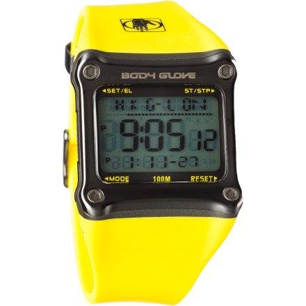 Body Glove Men's 70302 Rhyz Digital Grey and Yellow Watch