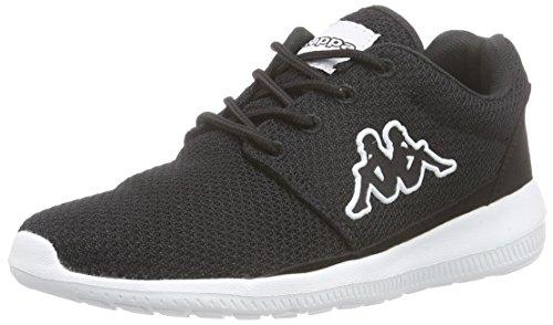 KappaSPEED II Footwear unisex, Mesh/Synthetic - Scarpe da Ginnastica Basse Unisex - Adulto , Nero (Nero (1110 nero/bianco)), 39