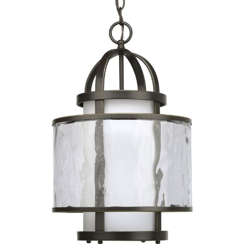 B0034TRWOQ Progress Lighting P3701-20 1-Light Bay Court Foyer Fixture, Antique Bronze