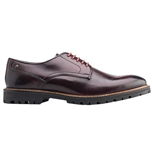 Base London Mens Barrage Washed Derby Bordeaux Leather Shoes 42 EU