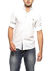 Groove Men Cotton White Casual Shirt (XX-Large)