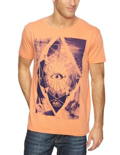 Quiksilver Roadie Tee Plain Men's T-Shirt Peach X-Large