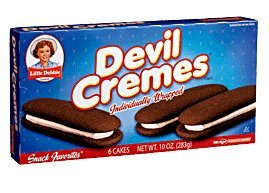 Little Debbie Snack Devil Cremes Creme Filled Cakes 6 Ct