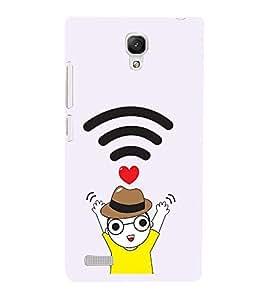 Vizagbeats WIFI Boy Love Back Case Cover for Xiaomi Redmi Note