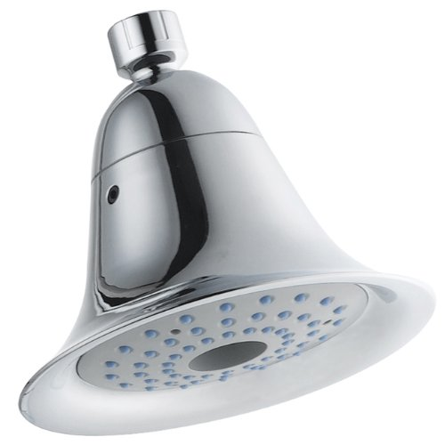 Kingston Brass Watersense KX361 6-inch Diameter High Velocity Aeroflow Shower Head, Polished Chrome