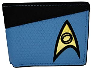 Star Trek Into Darkness Science Logo Button Coin Pouch Bi-fold Wallet Purse Blue