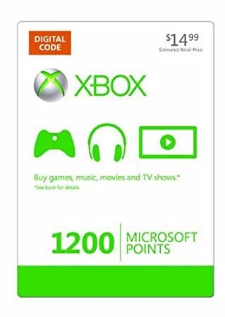 Xbox LIVE 1200 Microsoft Points [Online Game Code]