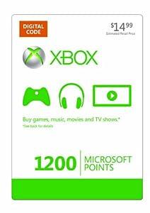 Amazon.com: Xbox LIVE 1200 Microsoft Points [Online Game